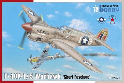 Special Hobby Aircraft 1/72 P40K1/5 Warhawk Short Fuselage Fighter Kit
