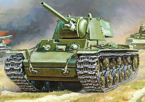 Zvezda Military 1/35 Soviet KV1 Heavy Tank Kit