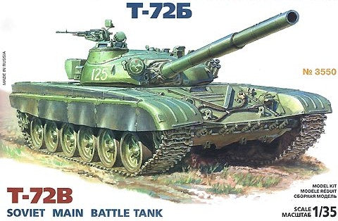 Zvezda 1/35 Soviet T72B Main Battle Tank (Re-Issue) Kit