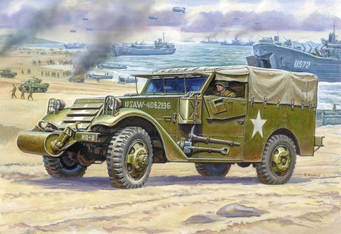Zvezda Military 1/35 M3 Armored Scout Car w/Canvas-Type Cover Kit