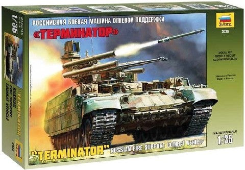 Zvezda Military 1/35 Russian Terminator Fire Support Combat Vehicle Kit