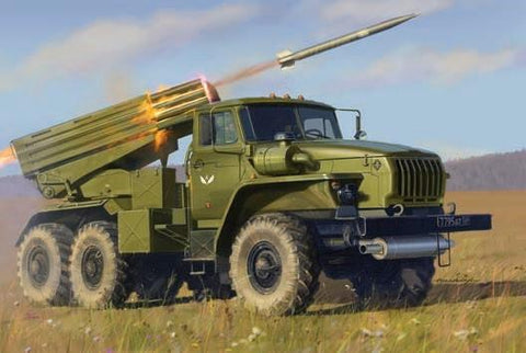 Zvezda Military 1/35 Russian BM21Grad Rocket Launcher Vehicle Kit
