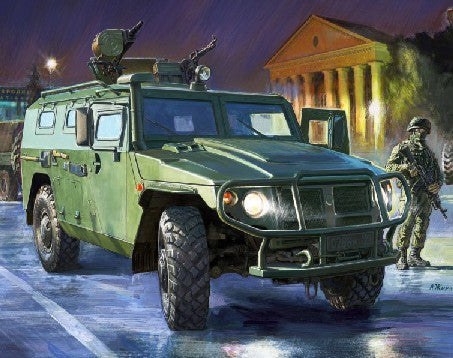 "Zvezda 1/35 GAZ-233014 ""Tiger"" Armored Vehicle Kit"