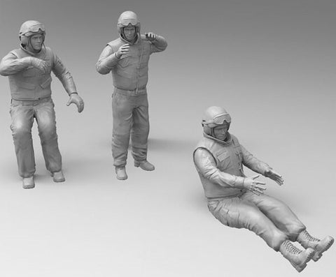 Zvezda 1/35 Russian Contemporary Tank Crew (3) Kit