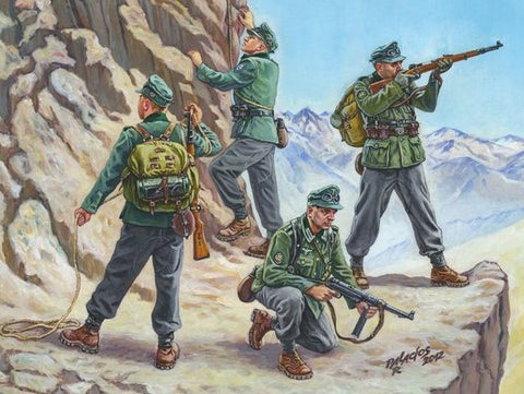 Zvezda 1/72 German Mountain Troops 1939-43 (4) (Snap Kit)