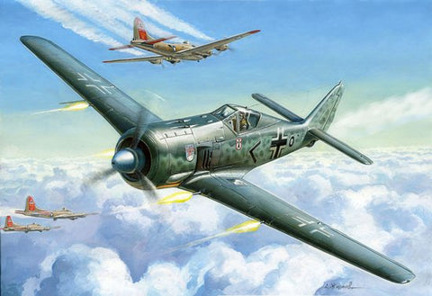 Zvezda Aircraft 1/72 German Fw190A4 Fighter Kit