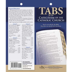 Catechism of the Catholic Church Book Tabs