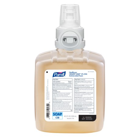 Healthcare Healthy Soap 2.0% CHG Antimicrobial Foam, 1200 ml, Amber, 2/cs