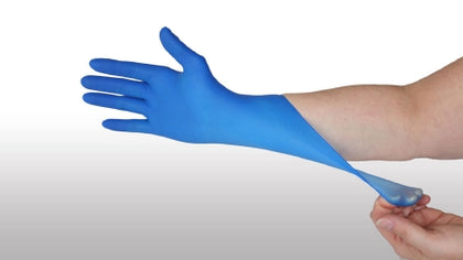 Glove, Exam, Nitrile, Thinfilm, Powder-Free (PF), Blue, Large, Non-Sterile (NS), 300/bx, 10 bx/cs