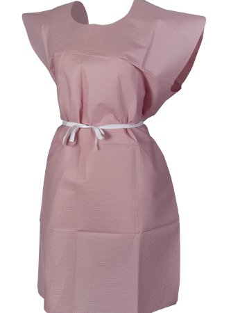 Patient Exam Gown McKesson One Size Fits Most Mauve Disposable T/P/T F/B OPN MAUVE30X42 (50/CS)