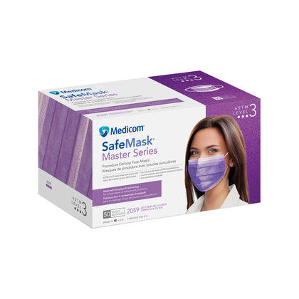 SafeMask Level 3 Master Series, Southern Bellflower (Radiant Orchid), 50/bx, 10 bx/cs - Cimadex International