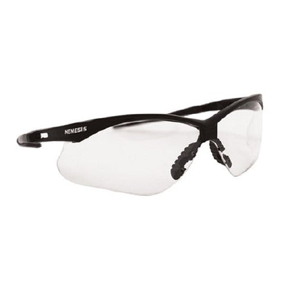 Jackson Safety Glasses, Clear Lens, Black Frame, 12/cs