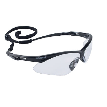 Jackson Safety Glasses, Clear Lens, Anti-Fog, Black Frame, 12/cs