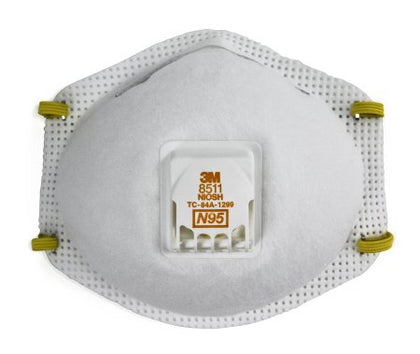 Particulate Respirator Mask 3M™ Industrial N95 Cup Elastic Strap One Size Fits Most White NonSterile 10/bx