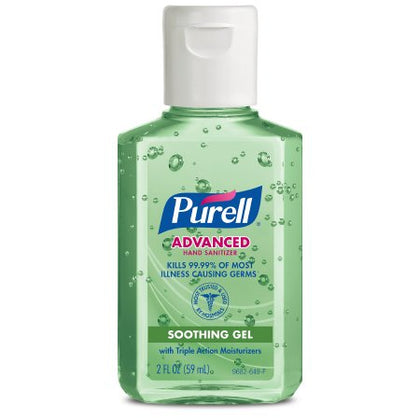 Instant Hand Sanitizer with Aloe, 2 fl oz Bottle with Flip-Cap, 24/cs