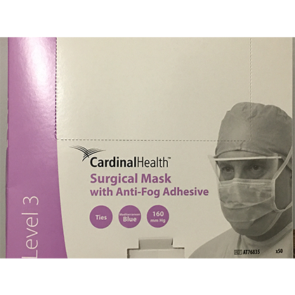 Surgical Mask Anti-fog Adhesive Pleated Tie Closure One Size Fits Most NonSterile