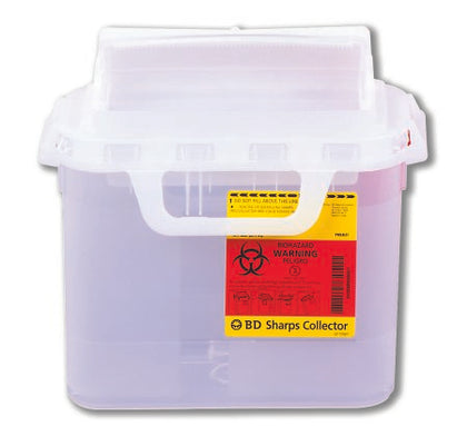Sharps Collector, 5.4 Qt, Side Entry, Pearl, 20/cs