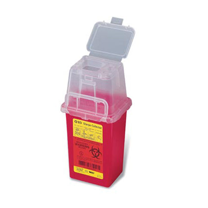Sharps Collector, 1.5 Qt, Phlebotomy, Red, 36/cs