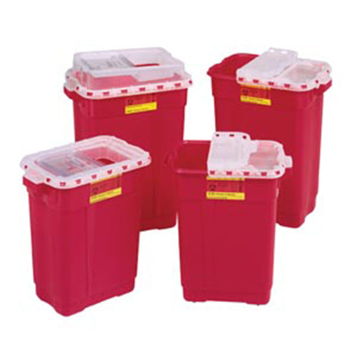 Sharps Collector, 19 Gal, Slide Top, Red, 5/cs