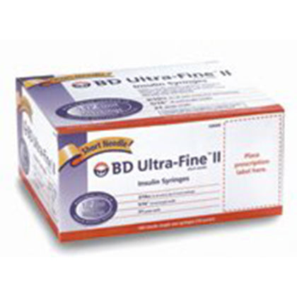 Insulin Syringe w/ Ultra-Fine™ Needle, 31G x 5/16