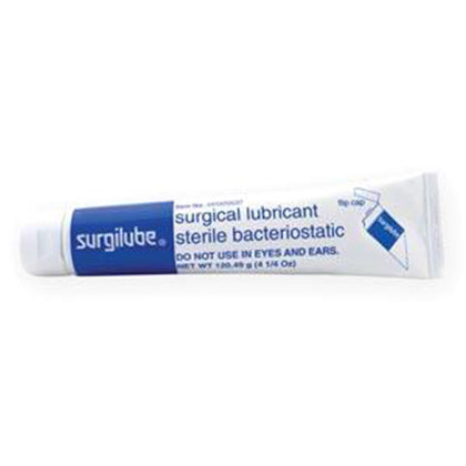 SURGILUBE® 4.25oz (120.49gm) Tube Flip-Top Cap (Laminated Tube), 12/bx (6 bx/cs)