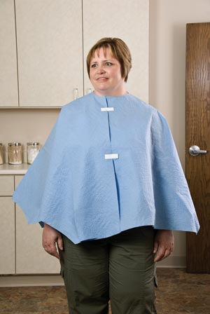 Exam Poncho, Extra Coverage, Blue, 56