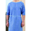 "Graham Medical Exam Gown, Non-Woven, 42"" x 50"", Blue (Yellow Tie), X-Large"