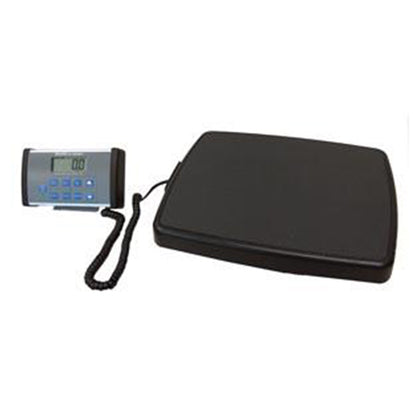 Digital Scale, Remote Display, Stand-On, Capacity: 500 lb/220 kg, Resolution: 0.2 lb/0.1kg, Platform Dimension: 13¾