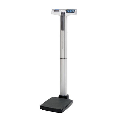 Digital Eye-Level Stand-On Scale with Height Rod, Power Adapter ADPT31 Included, 500 lb/220 kg Capacity