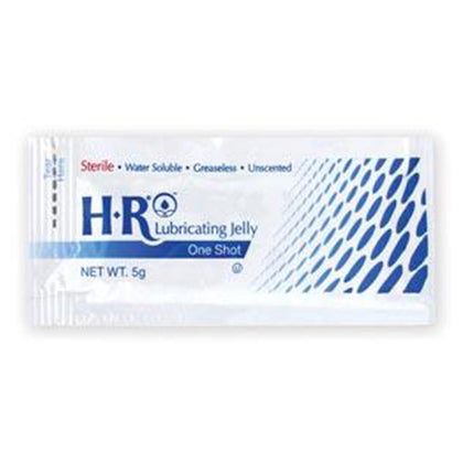 HR Sterile Lubricating Jelly 5gm One Shot, 144/bx