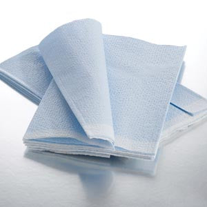 Fanfold Drape Sheet, Tissue/ Poly/ Tissue, Blue, 40