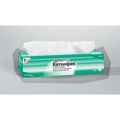 "KimWipes EX-L Delicate Task Wipers, Disposable, Popup Box, 1-Ply, White, 15"" x 17"", 140/bx, 15 bx/cs"