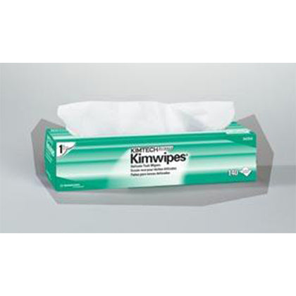 KimWipes EX-L Delicate Task Wipers, Disposable, Popup Box, 1-Ply, White, 15