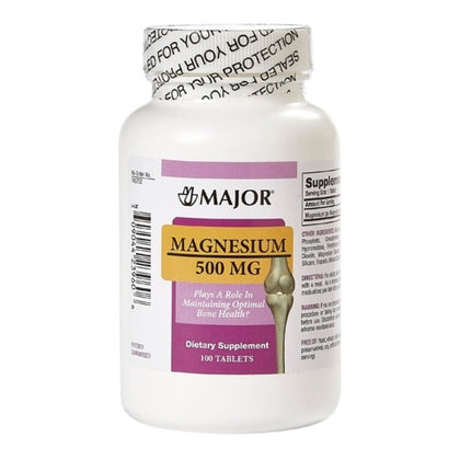 Magnesium Oxide, 500mg, Tablets, 100s