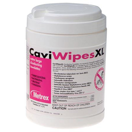 XL CaviWipes, 65 Wipes, 12 canisters/cs (091264)