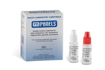 Multi-Chemistry Controls For Glucose, Total Cholesterol, Ketone & Triglyceride (High & Low Levels), 1vial each (Distributor Agreement Required - See Manufacturer Details Page)