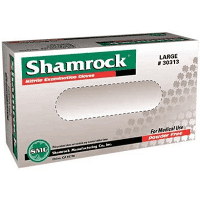 Shamrock 30000 Series Exam Glove, NonSterile Blue Powder Free Nitrile Ambidextrous Fully Textured , Not Chemo Approved, Large, 100/BX (1000/Case)