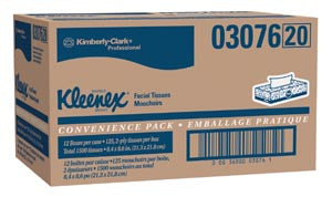 Facial Tissue, White, 125/pk, 12 pk/cs (60 cs/plt) - Cimadex International
