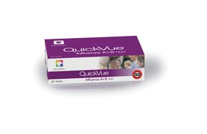 QuickVue® Influenza A+B Test, Dipstick Format, Identifies Type A, Type B, or Both, Two-Color Endpoint, CLIA Waived, 25 test/kit