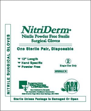Gloves, Surgical, Size 7½, Nitrile, Sterile, PF, Textured, 25 pr/bx, 4 bx/cs