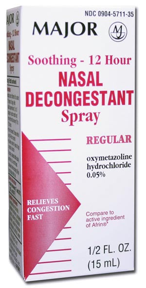 Nasal Decongestant, 12-Hour, 30mL