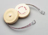 "Tape Measure, 72""L, ¼""W, Linen-Like Fiberglass, White Plastic Case, Push Button to Retract Tape, English Scale, Reverse Side Metric, 6/bx"