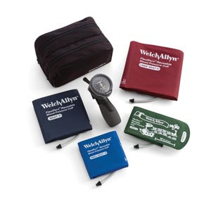 Multi-Cuff Kit, Includes Adult, Large Adult & Child-Print Inflation Systems in Zippered Case, Latex Free (LF) Cuff