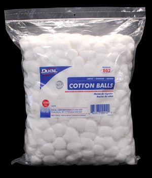 Cotton Balls, Medium, 2000/bg, 2 bg/cs - Cimadex International