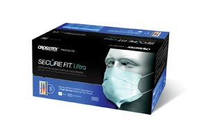 CROSSTEX SECUREFIT ULTRA SENSITIVE EARLOOP MASK (40/BX 6 BX/CS)