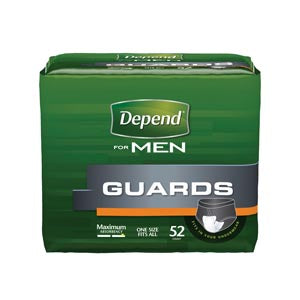 Depend® Guards For Men, 52/pk, 2 pk/cs (90 cs/plt) - Cimadex International