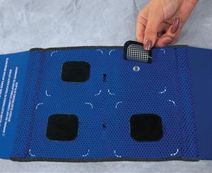 Back Garment Kit Contains: (1) S/M Back Garment, (4) UltraStim® Electrodes 2