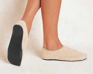 Adult Slippers, 5-6, Beige, 60/cs - Cimadex International