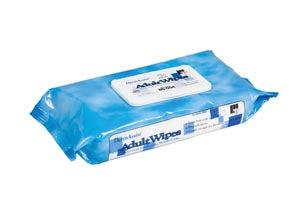 Wipes, Incontinence, Adult, Spunlace, Low Profile Tub, 8