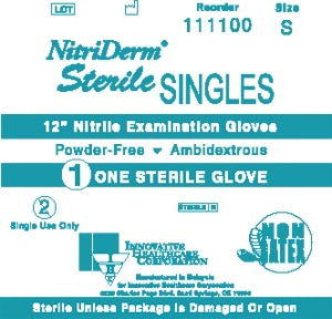 Gloves, Exam, Medium, Nitrile, Sterile, PF, Chemo Rated, Extended Cuff, Pairs, 50 pr/bx, 4 bx/cs